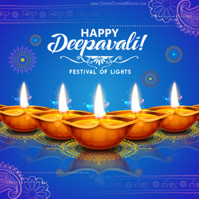Create Deepavali Wishes Card for Business