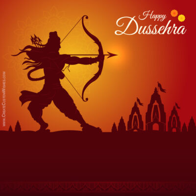 Create a Dussehra Wishes Card for Business
