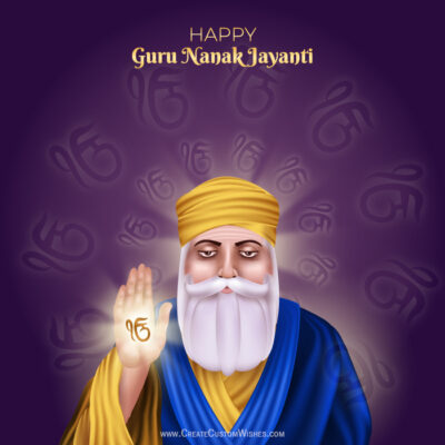 Create Guru Nanak Gurpurab Image with Name