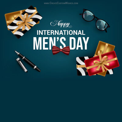 Create Men's Day Wishes Card for Business