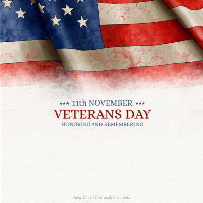Create Thank you Veterans Card for Business