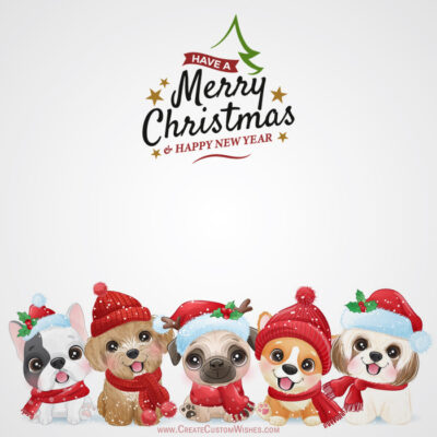 Creative Merry Christmas and New Year Card