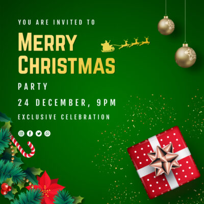 Customize Merry Christmas Party Invites
