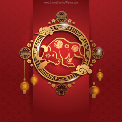 Editable Chinese New Year OX Templates