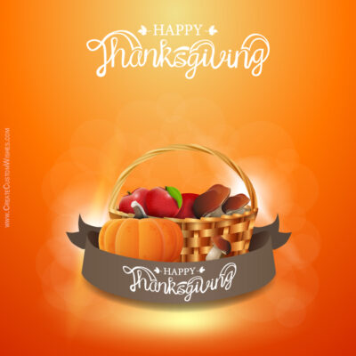 Editable Thanksgiving Day Wishes Cards