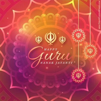 Free Customize Guru Nanak Gurpurab eCard