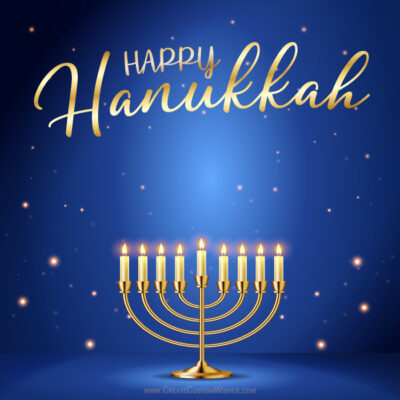 Free Personalize Hanukkah with Name & Images