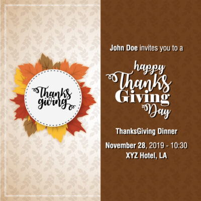 Free Thanksgiving 2020 Invitation Templates