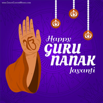 Happy Guru Nanak Jayanti with Name Online