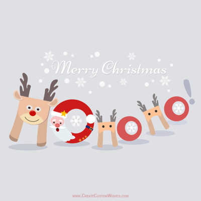 Ho Ho Ho Merry Christmas Cards, Wishes Image
