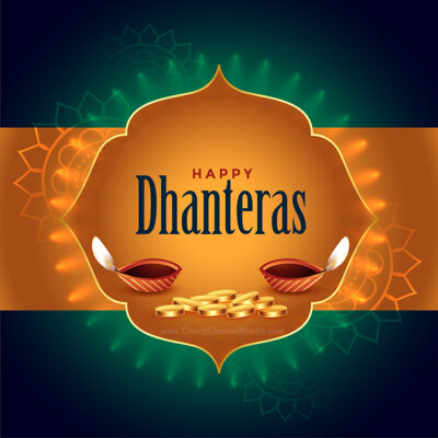 Make Dhanteras Wishes Card for Company