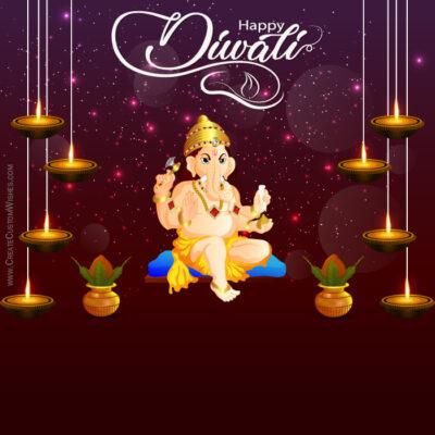Make Diwali Greeting Card for Company