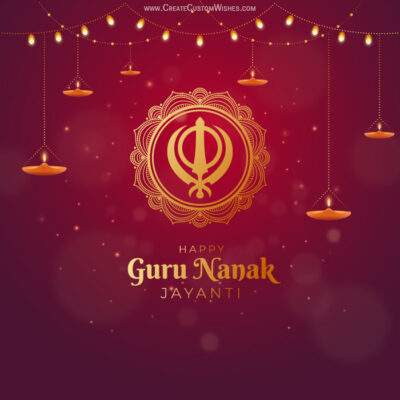 Make Guru Nanak Gurpurab Card for Business