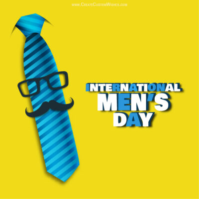 Make International Mens Day Image for Company