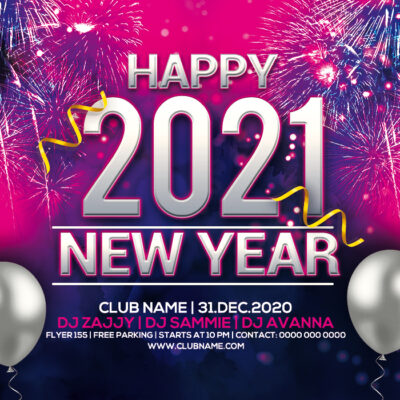 Online New Year 2021 Invitation Card Maker