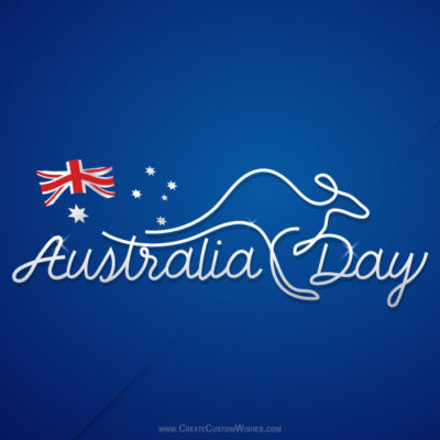 Add Name & Photo on Australia Day Image