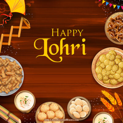 Add Name & Photo on Happy Lohri Image