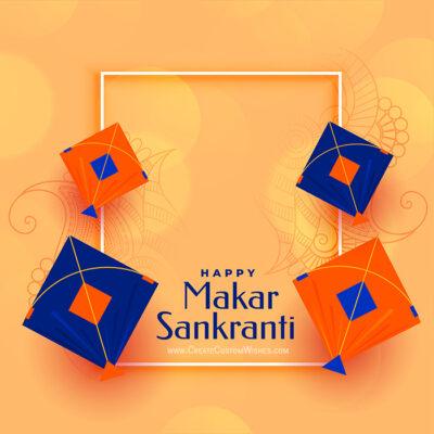 Add Name & Photo on Makar Sankranti Image