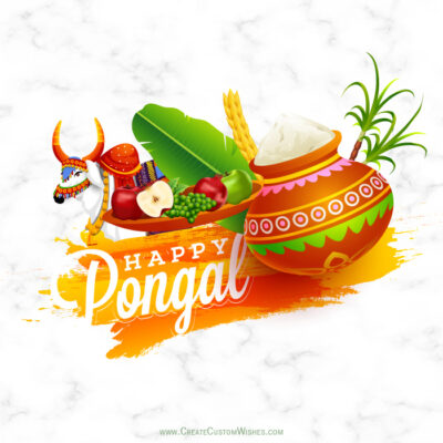 Add Name & Photo on Pongal Wishes Image