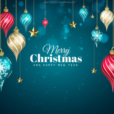Christmas with Name Greeting Cards - FREE