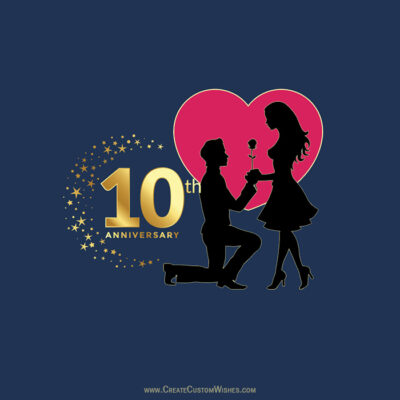 Create 10th Wending Anniversary eCard