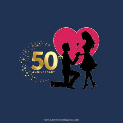Create 50th Marriage Anniversary Card