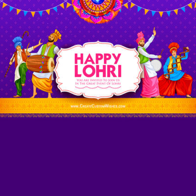 Create Happy Lohri Wishes for Business
