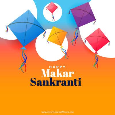 Create Makar Sankranti with Name Image