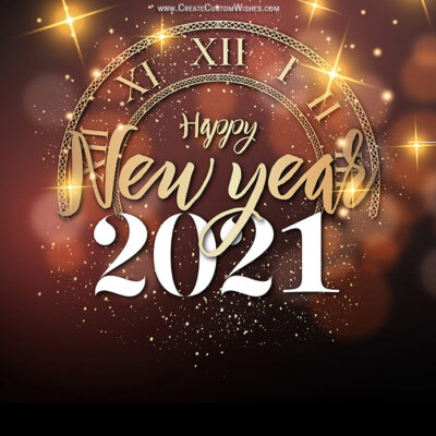 Create New Year 2021 in Advance with Name