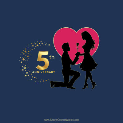 Creating 5th Marriage Anniversary Card