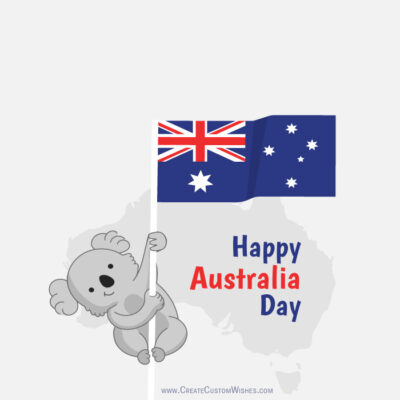 Editable Australia Day 2021 Greeting Card
