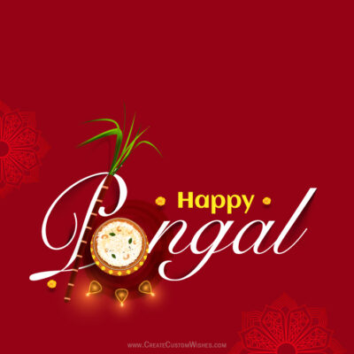 Editable Happy Pongal 2021 Greeting Card
