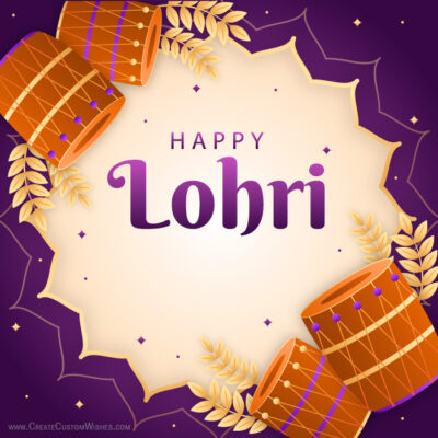 Editable Lohri 2021 Greeting Card FREE