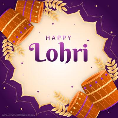 Editable Lohri 2021 Greeting Card FREE
