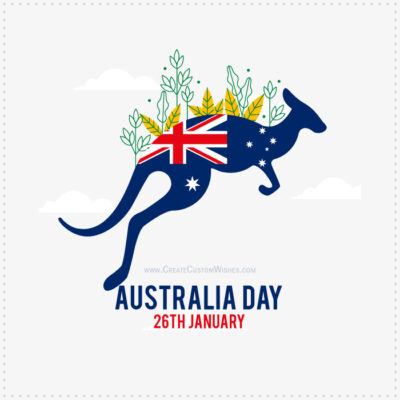 Free Create Australia Day with Name Image