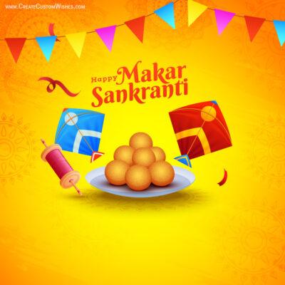 Free Make Makar Sankranti Card for Company