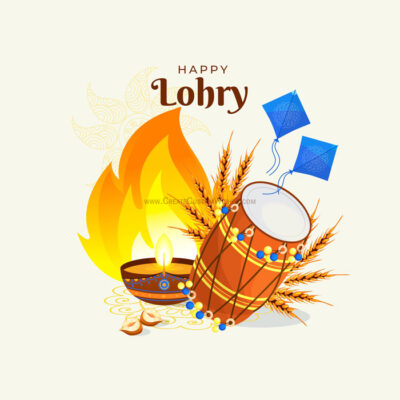 Free Personalize Lohri Image with Name