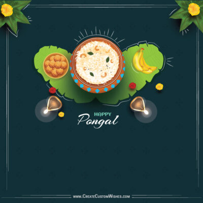 Happy Pongal Greeting Card for Company