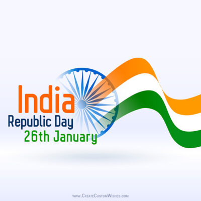 Make 26 Jan - Republic Day Card for Company