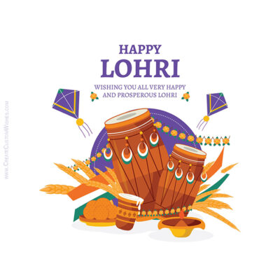 Make a Lohri Greeting Card for Company