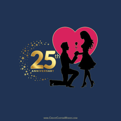 Making 25th Marriage Anniversary eCard