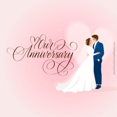 Personalize Happy Anniversary Wishes Card