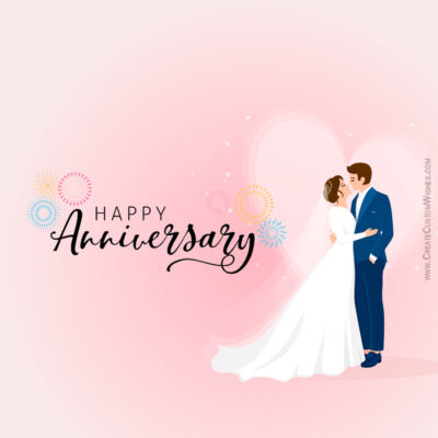 Add Name & Photo on Anniversary Wishes