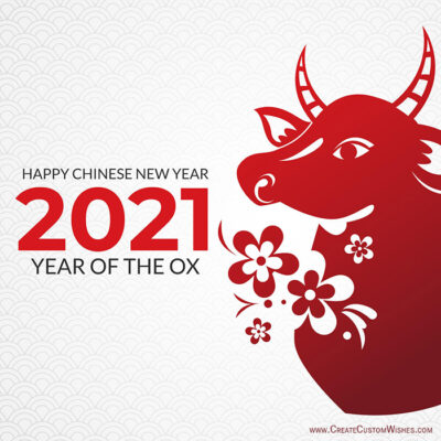 2021 Year of the Ox Chinese New Year