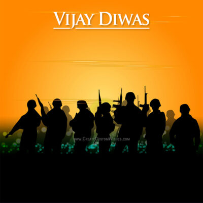 Add Name & Photo on Vijay Diwas Image