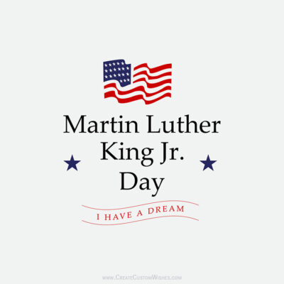 Add Text & Photo on MLK Day Wishes Image