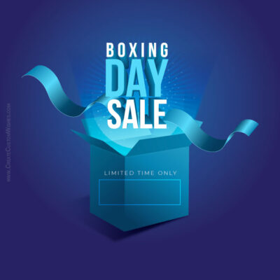 Boxing Day Sale Flyer with Shop Name