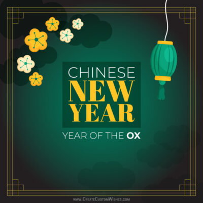Chinese New Year - OX for Status Maker