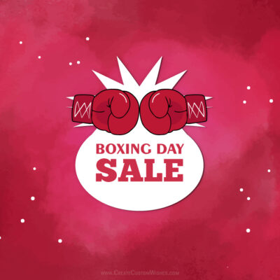 Create Boxing Day Sale Banner Online