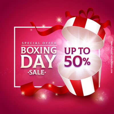 Create Boxing Day Sale Banner for Canada